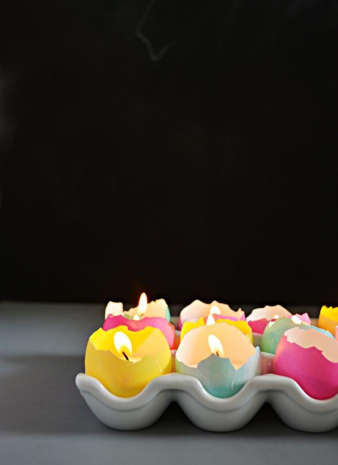 яйца свечи пасха