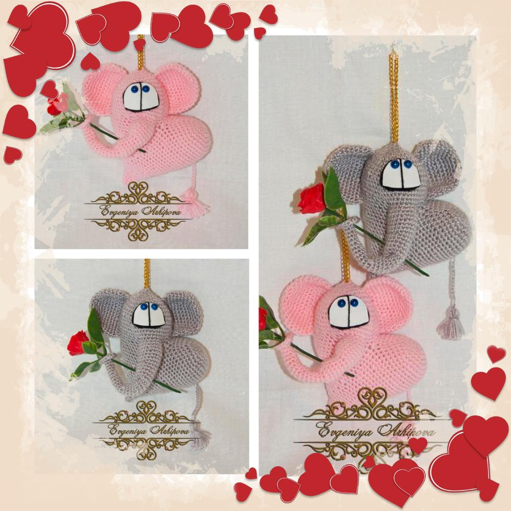 слоник деньвлюблённых сердце любовь