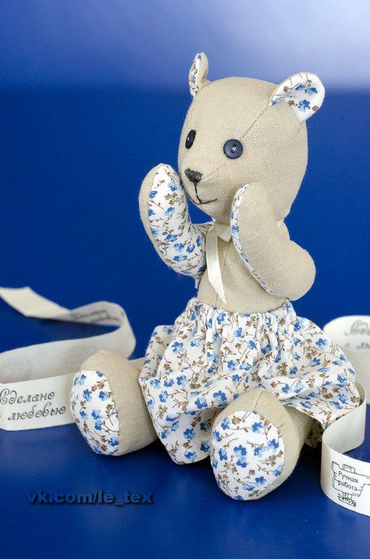 мишка игрушки мягкаяигрушка лен подарки