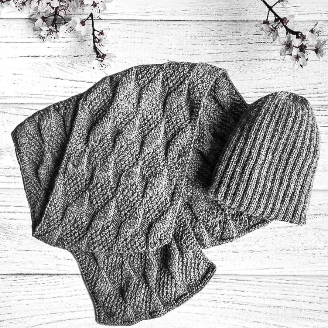 шарфик спицами зимняя шарф вязаная серый женский шапка связанная купить вязаные вязаный снуд шапку