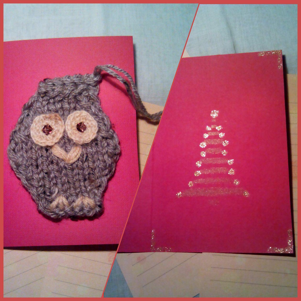 совы новый подарки открытки ручная вязаные новогодние работа год