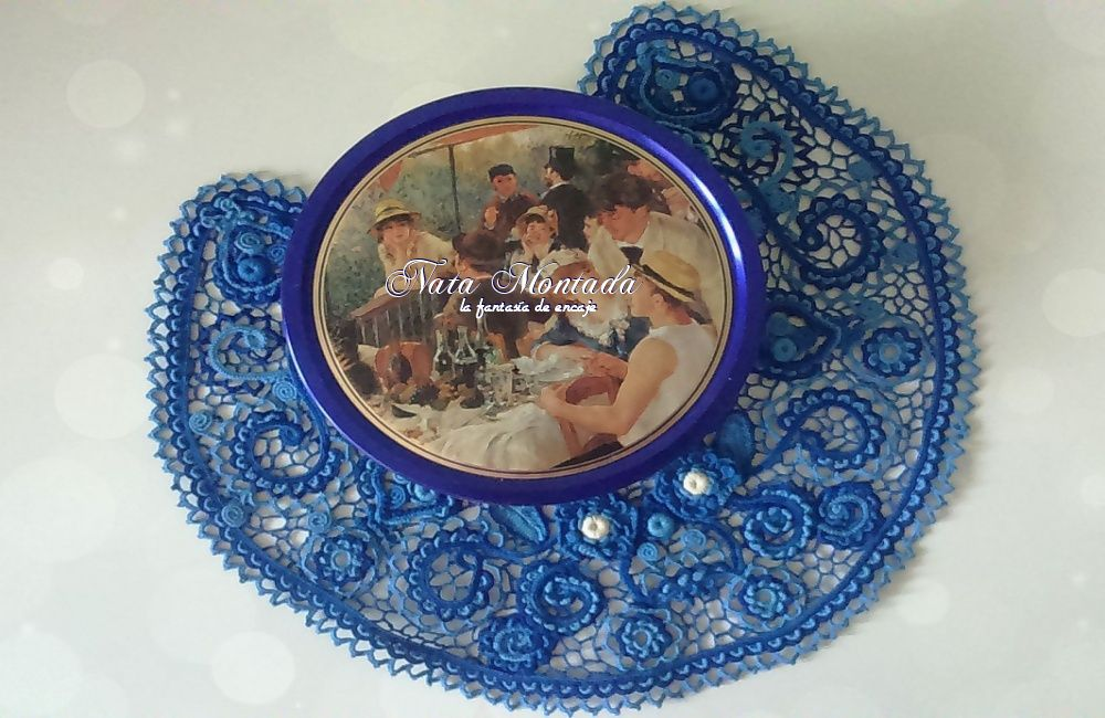 ирландское девушке пейсли синий воротничок хлопок восточный цветочный крючком ручнаяработа подарок