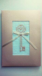 открытка новоселье ключ вышивка