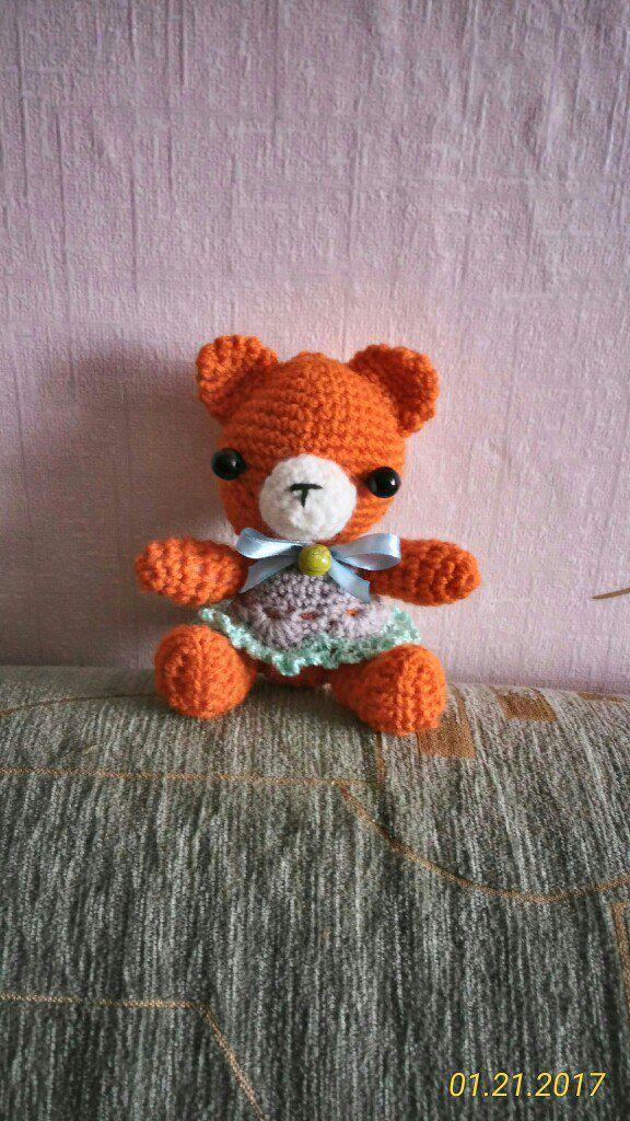handmade вязание мишки игрушки подарок крючок ручнаяработа дети