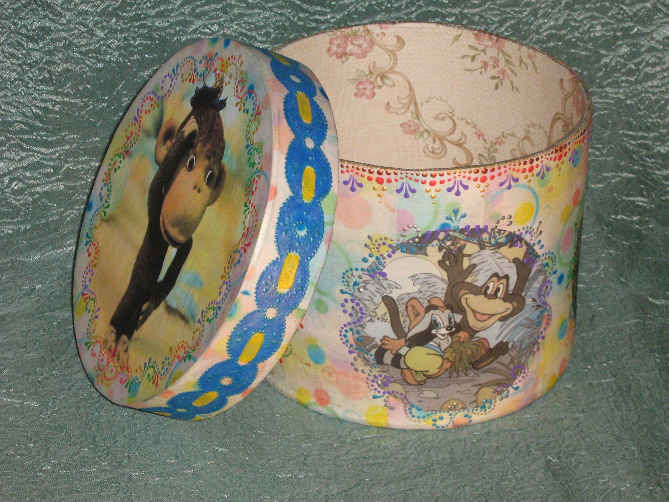 картонаж мастеркласс картона коробка круглая шляпная из