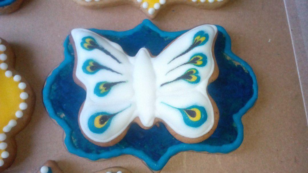 с_глазурью имбирное печенье