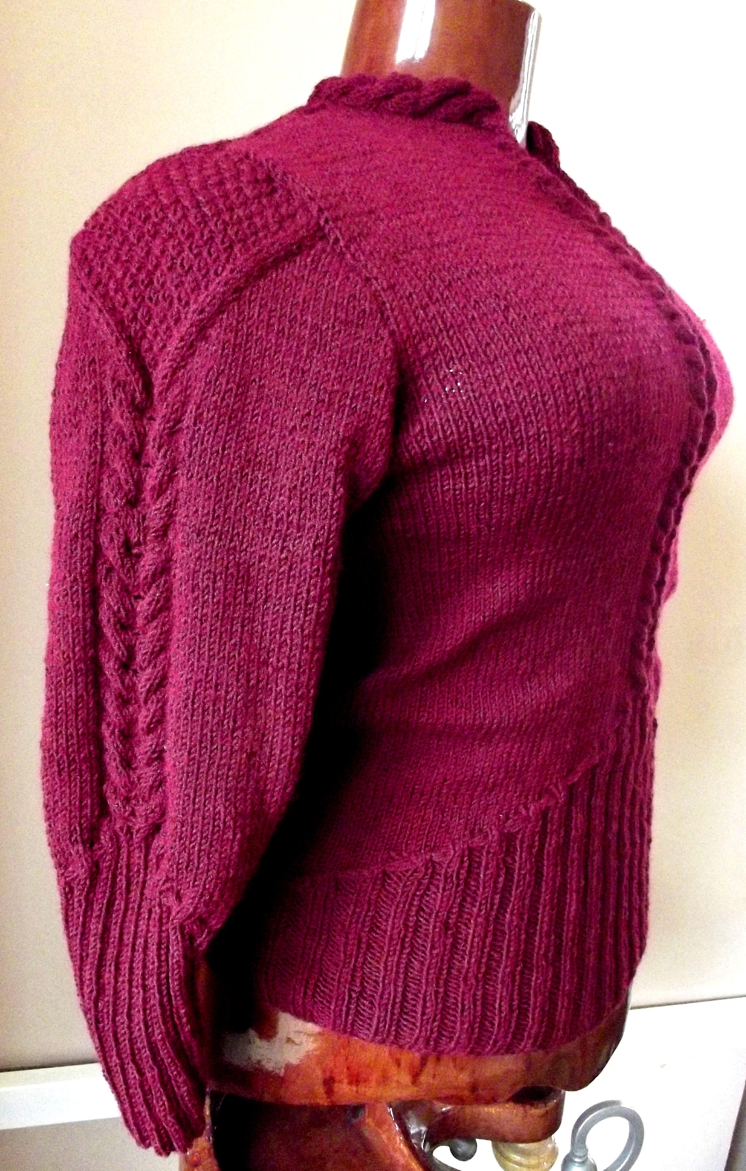 модный зимняя работа модель женский ручное джемпер ручная вязание теплый трикотаж авторская