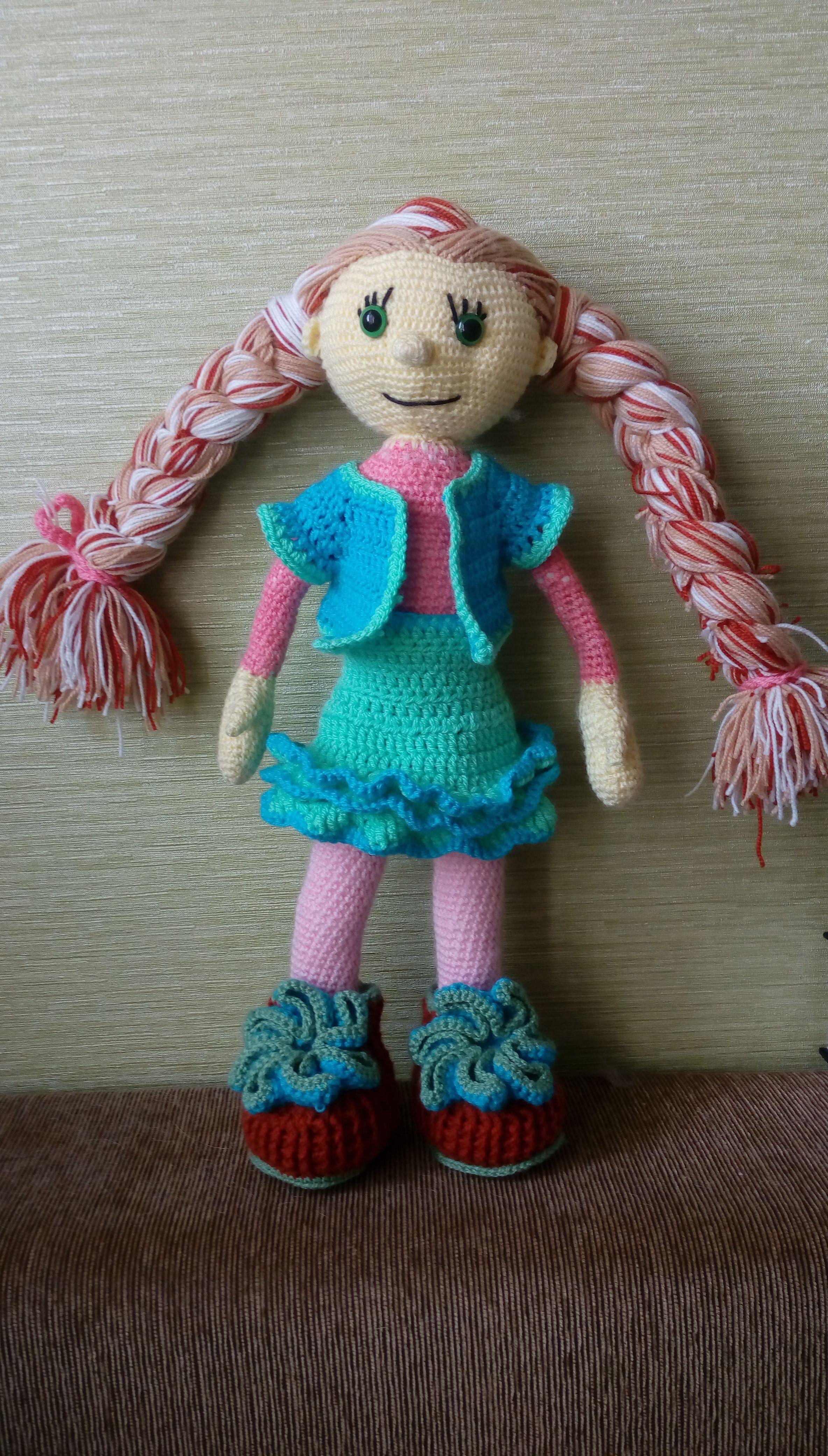 игрушка кукла для вязанье детей