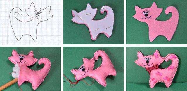 Плоские игрушки из фетра своими руками с выкройками