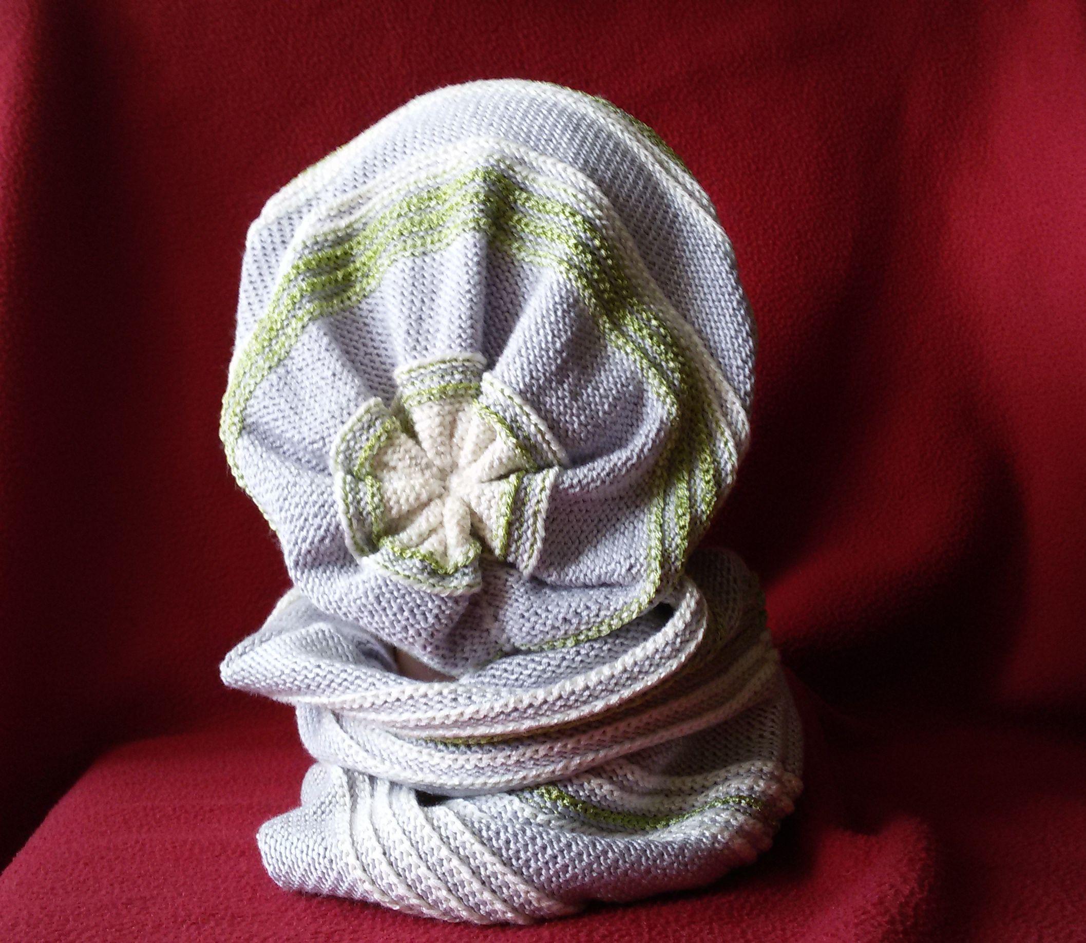 комплект нежный шапочка снуд вязанный мешок