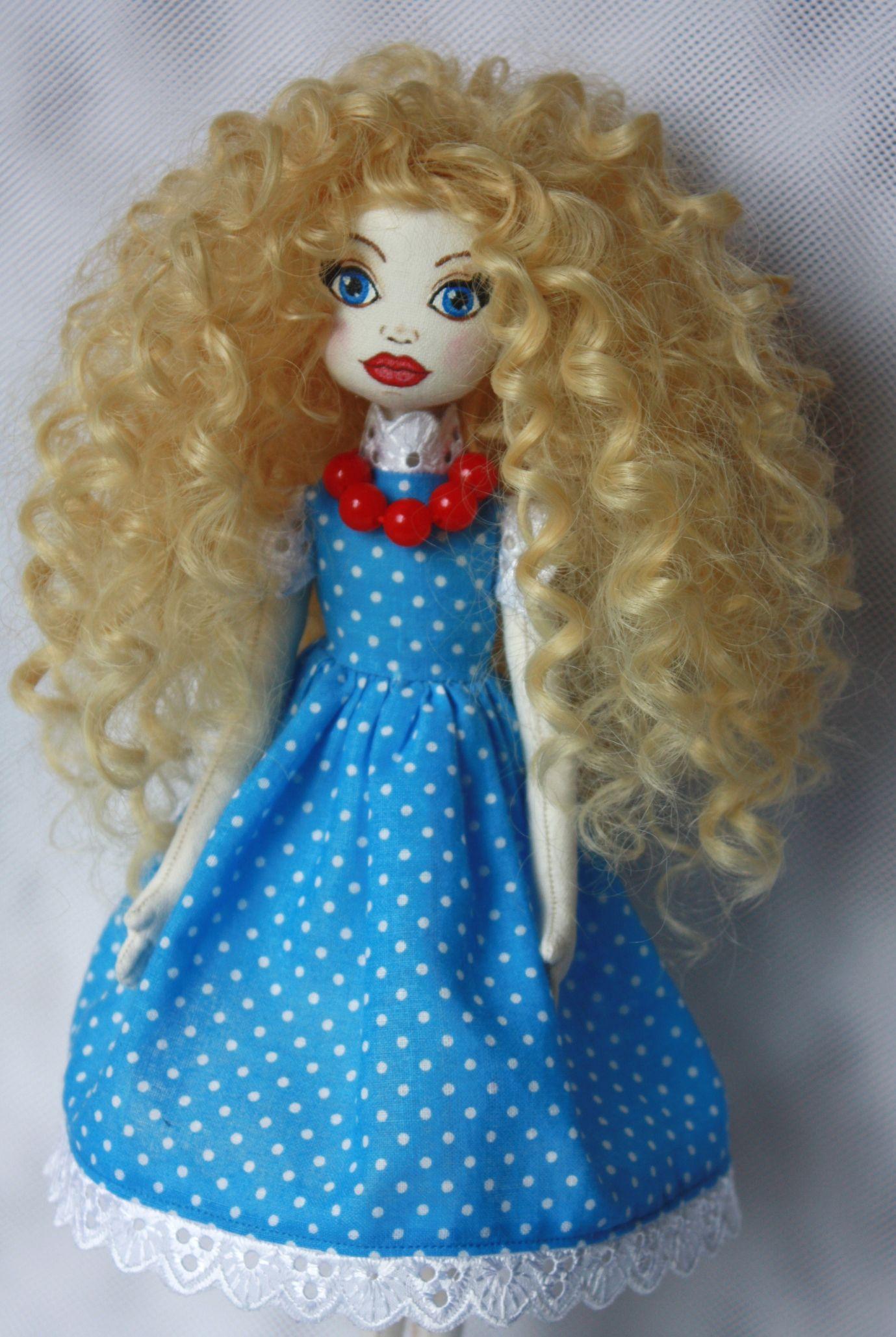 интерьерная подарок кукла коллекционная на текстильная