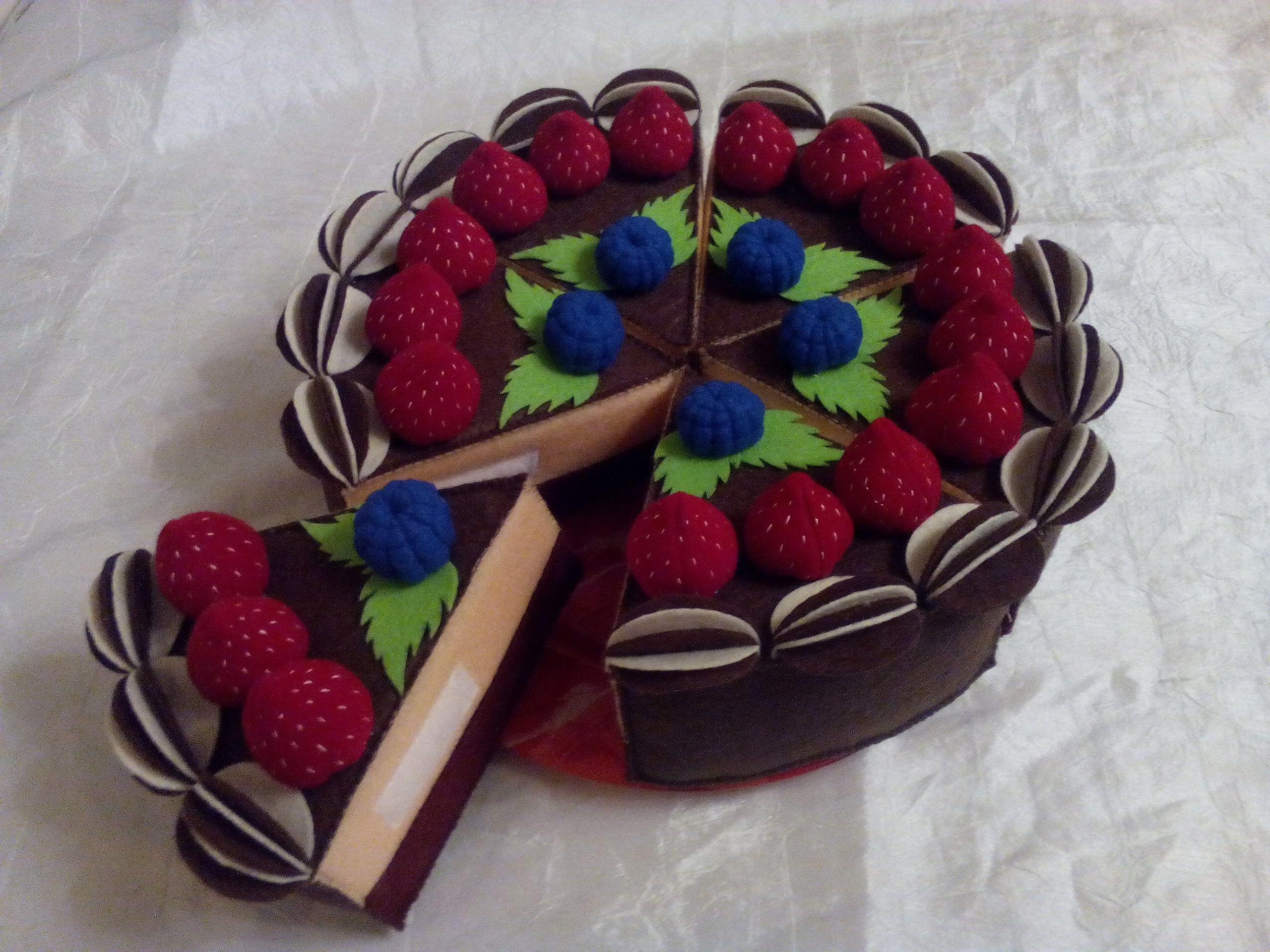 сладости фетр торт