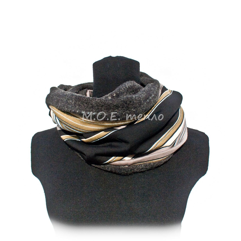двойныеснуды женственно элегантно торжественно стильно модно снуды моетепло полосатый полосы шапка аксессуары шапки шарфы аксессуар шарф тепло снуд голубой красиво