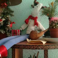 рождество год новый тильда лось подарки