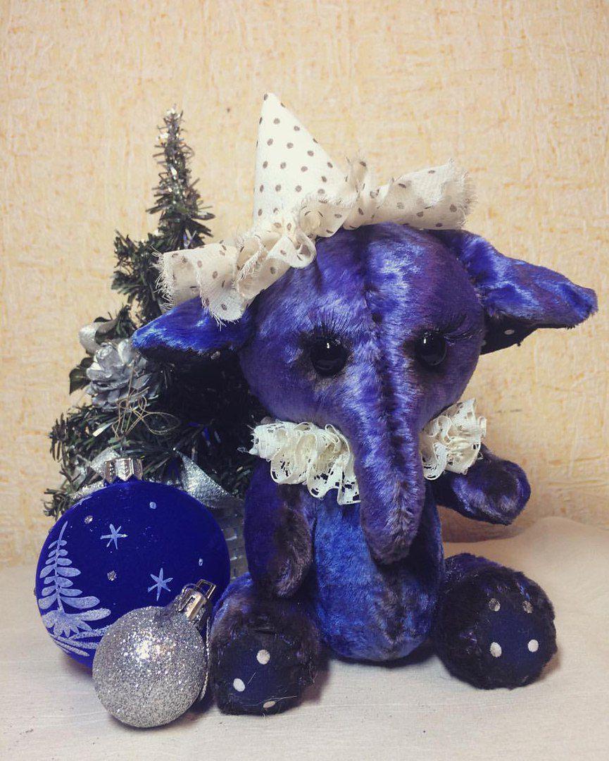 авторская игрушка слоник текстильнаяигрушка тедди подарок