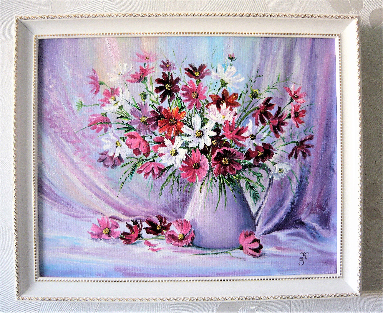 картина живопись цветы подарок