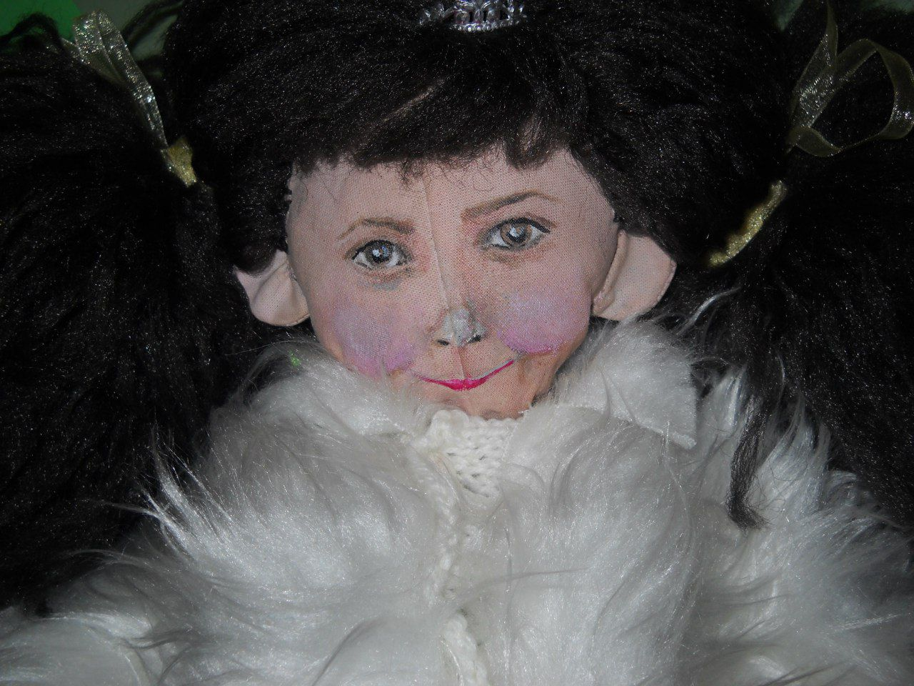 натуральные кружево текстильная кукла материалы подарок