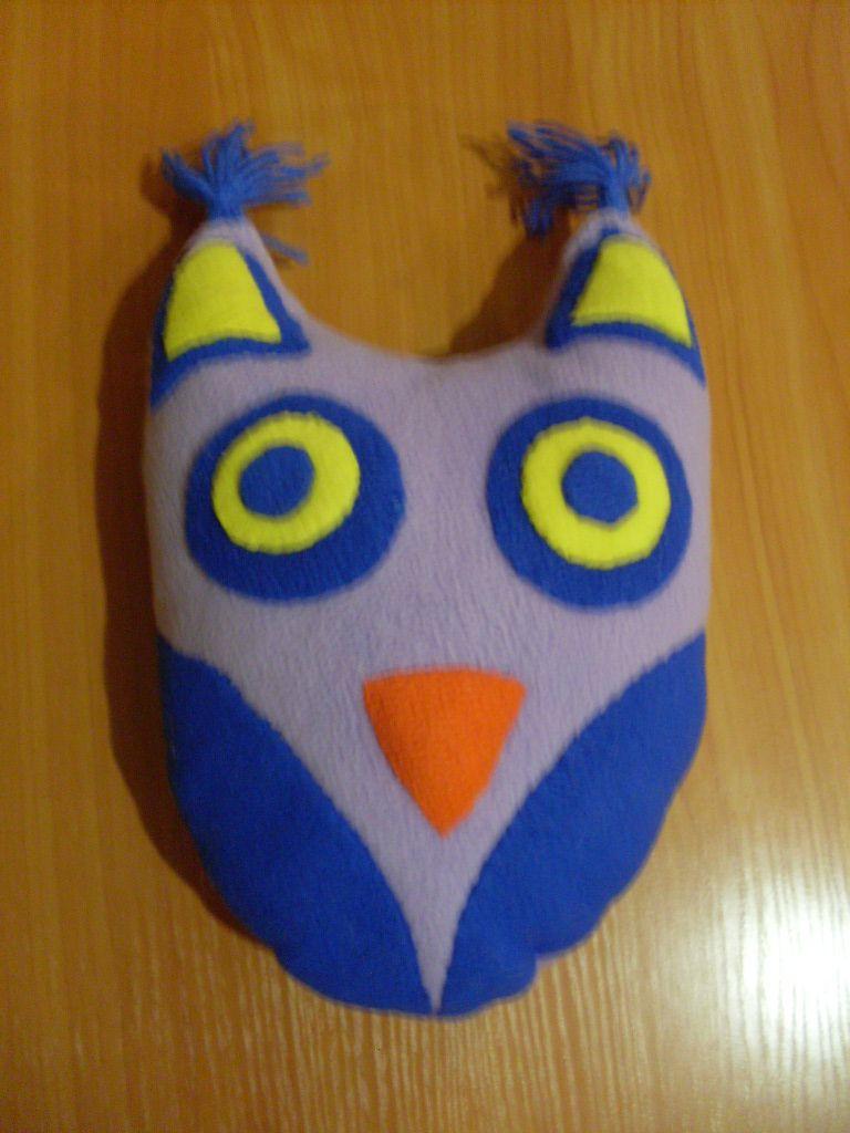 подушка игрушка сова мягкая ручной работы