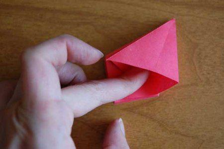 Оригами из бумаги цветы 32