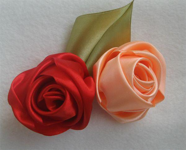 атласных класс лент розы из мастер