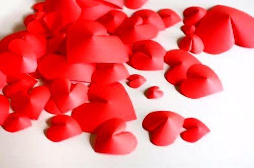 Сердечки из бумаги 6