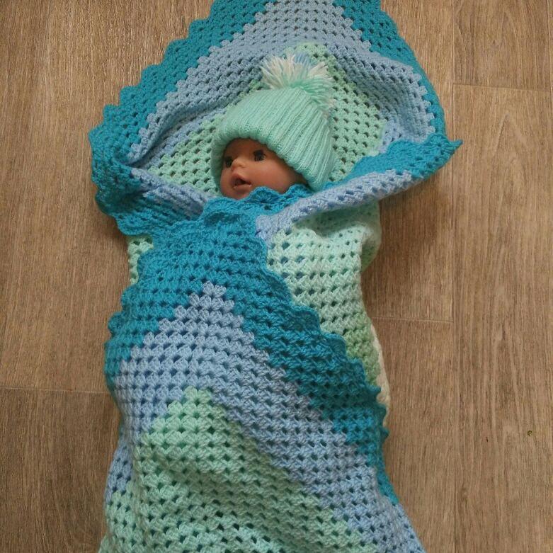 пледвязаный пледкрючком пледдетский новорожденного пледдлямалыша комплект навыписку вязанный