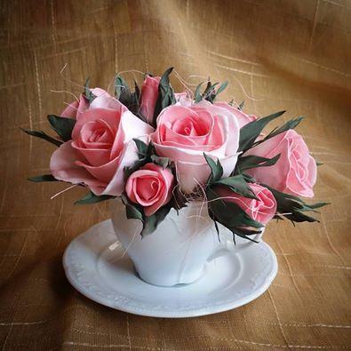 композиция подарок работа ручная хэнмэйд интерьер розы цветы