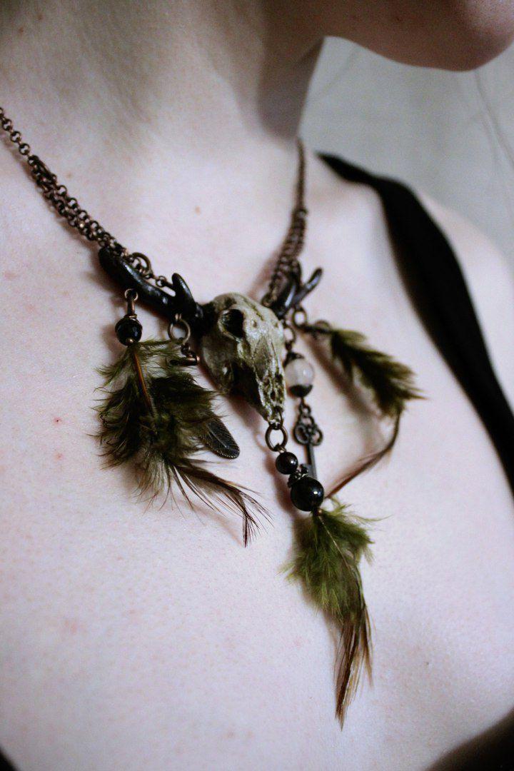 ручнаяработа перья подарок fimo череп украшение handmade твойстиль skull