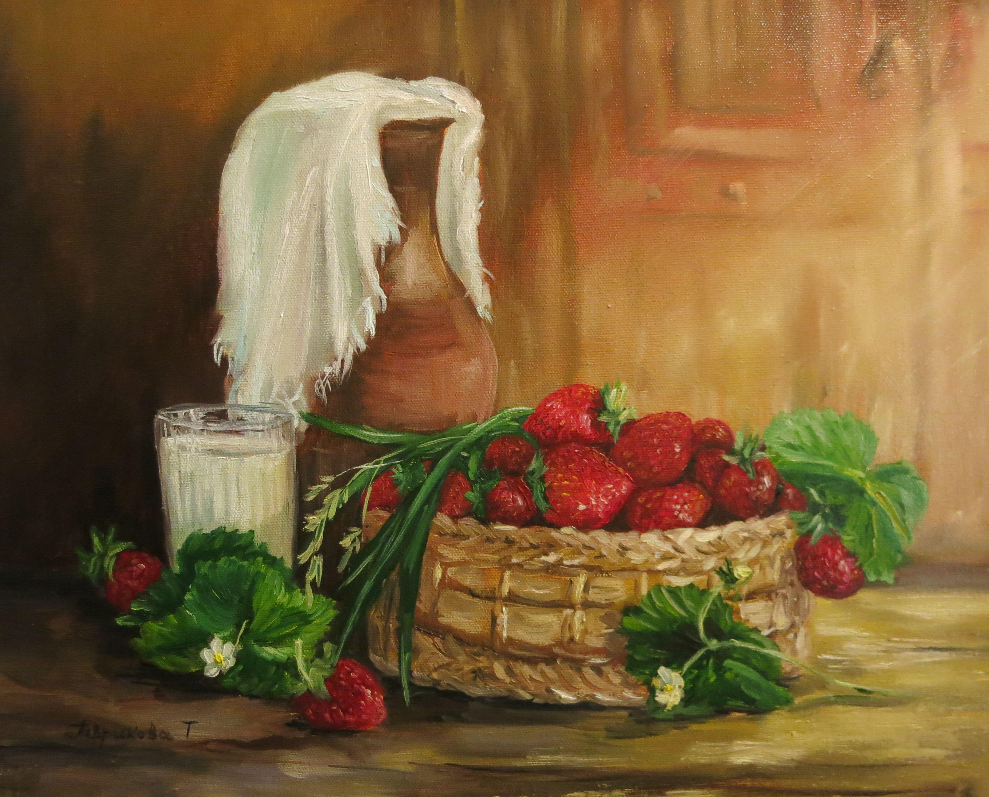 маслом интерьера ягода картина украшение живопись натюрморт