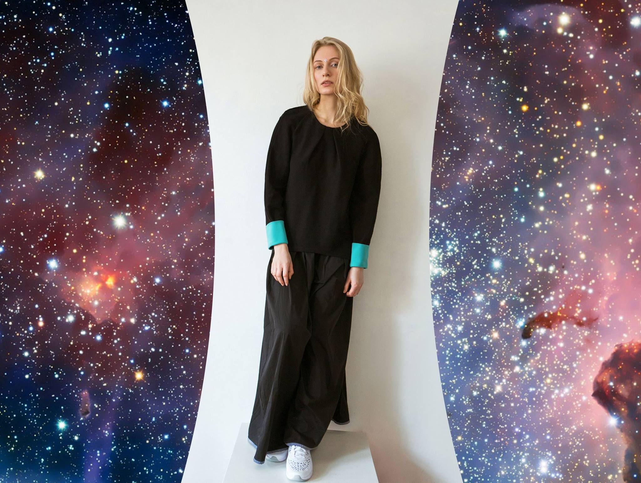 эластан бренд ksusharaikova чёрный свитшот хлопок одежда