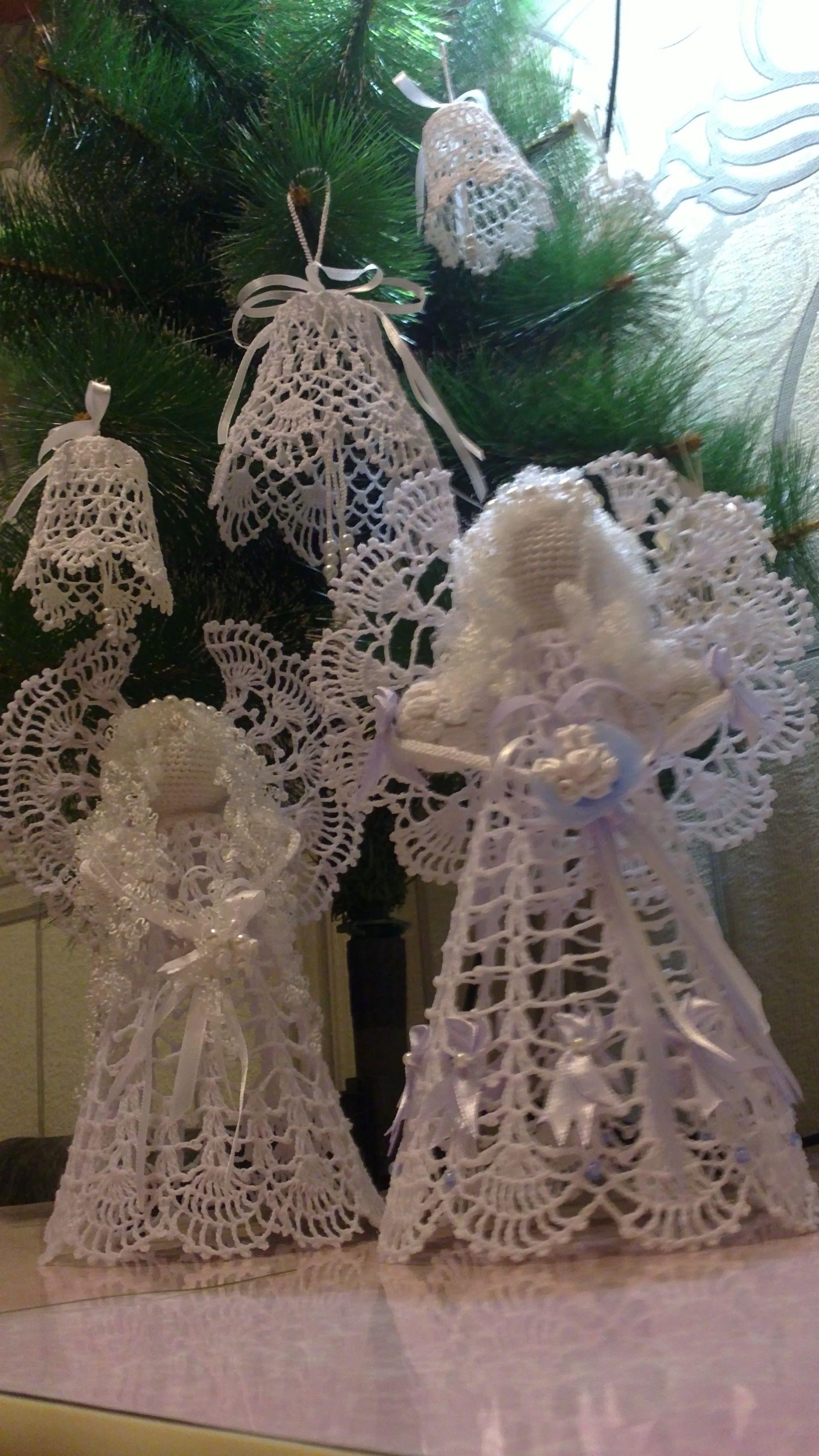ажурный ручной работы новый ангел рождество год подарок