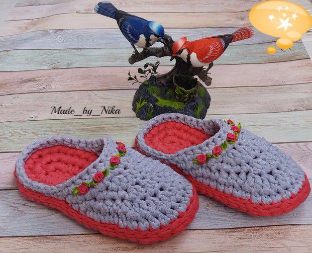 длядевушек мода длядетей ручнаяработа длядома стиль обувь тапки назаказ крючком