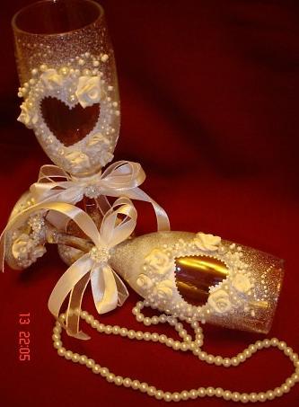 бокалы свадебные руками своими