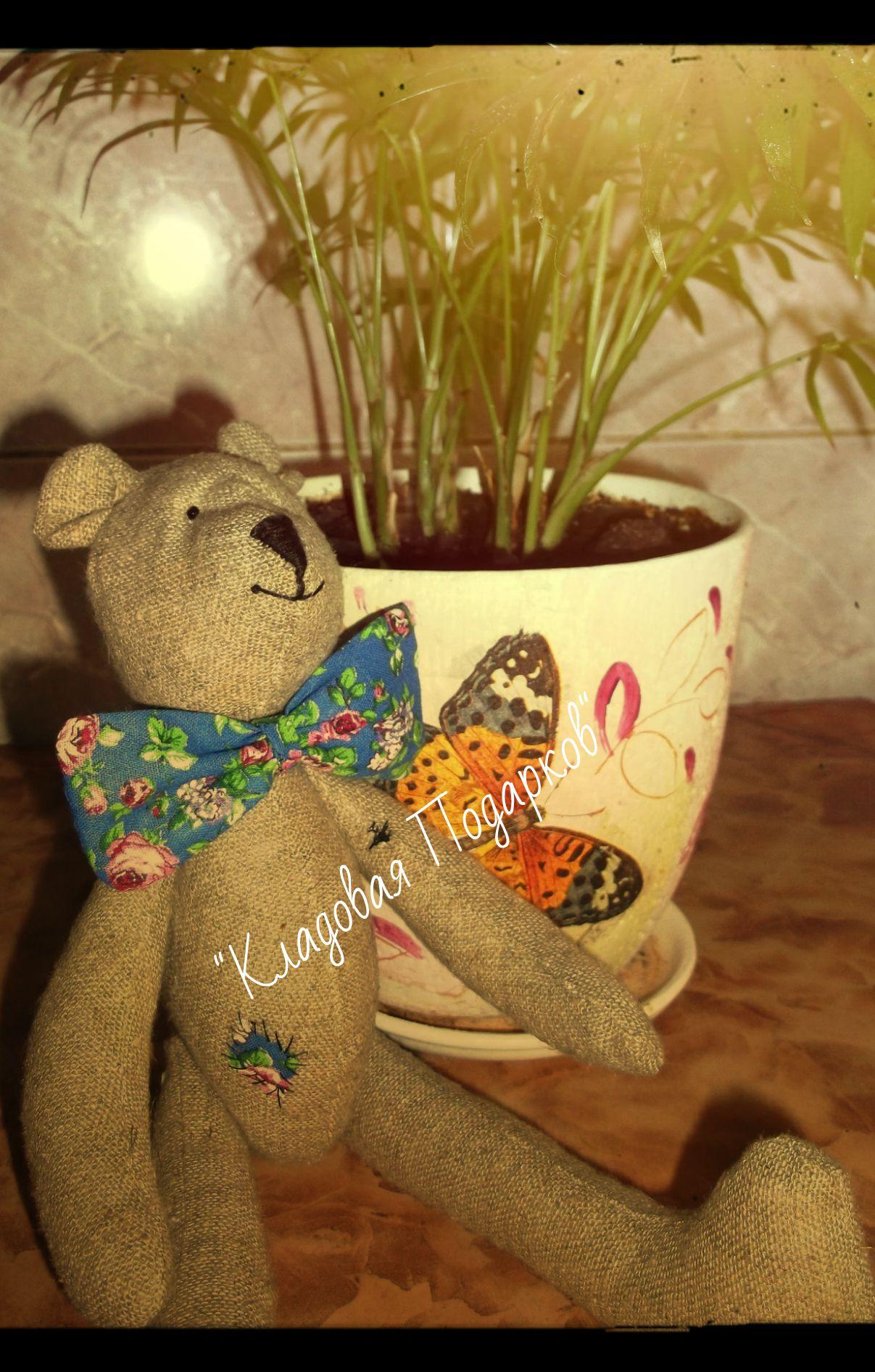 мишка бабочка игрушка кладовая работа ручная подарков подарок