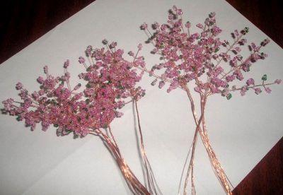 Деревья из бисера мастер класс 6