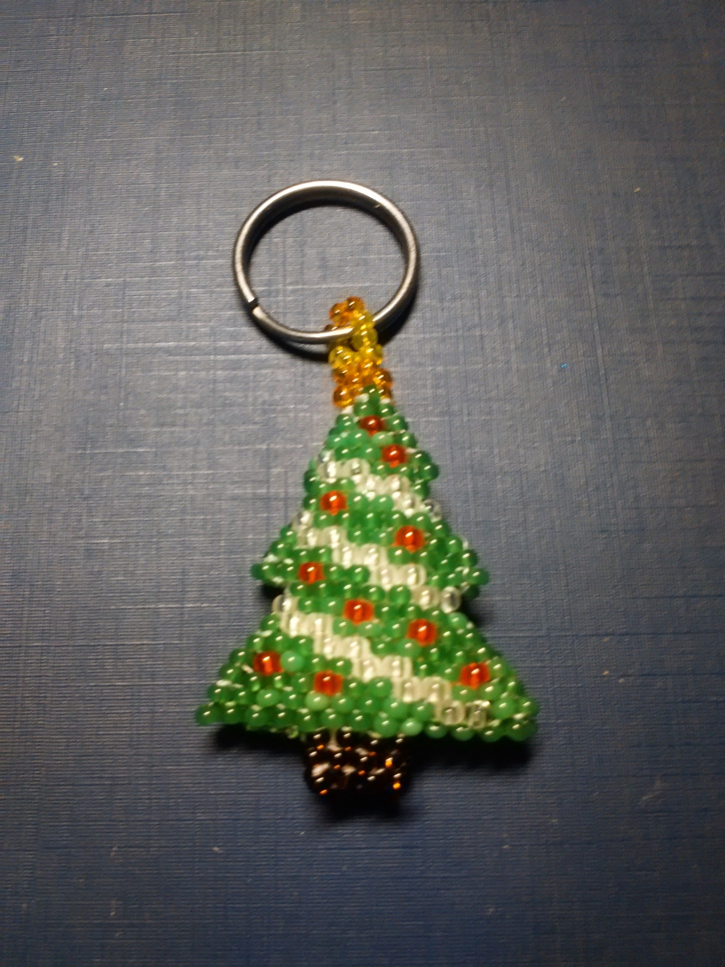 сосна избисера 2017год новогоднеедерево украшения бисер аксессуары елка брелок ёлка символ новыйгод подарок
