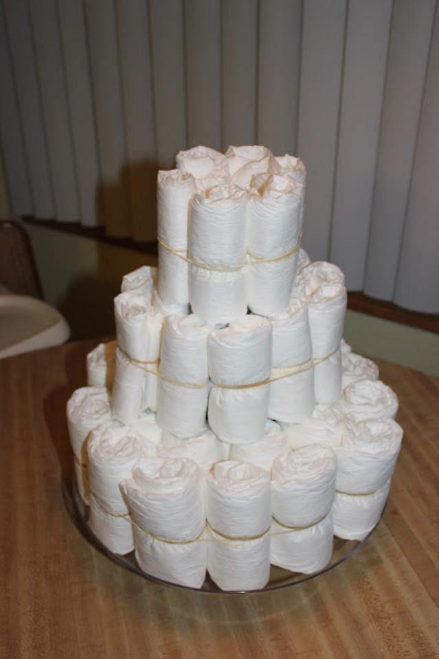 Торт из памперсов своими руками 8