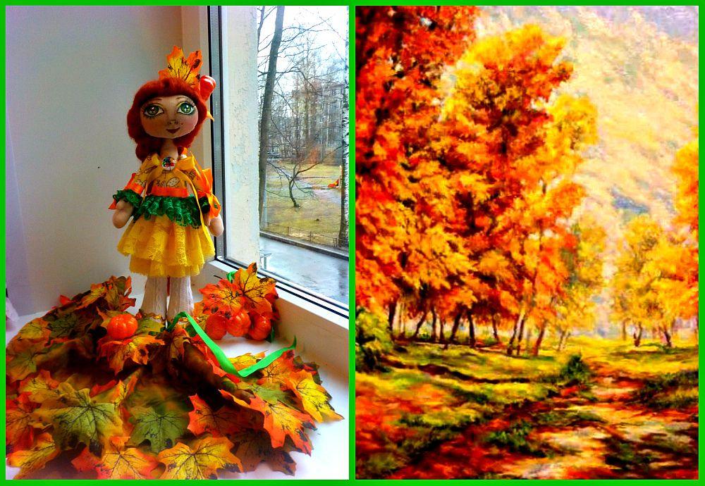 лента ручной работы атласная hand-made оранжевый кукла новый куклы хлопок интерьерная желтый в рождество на год текстильная зеленый осень подарок