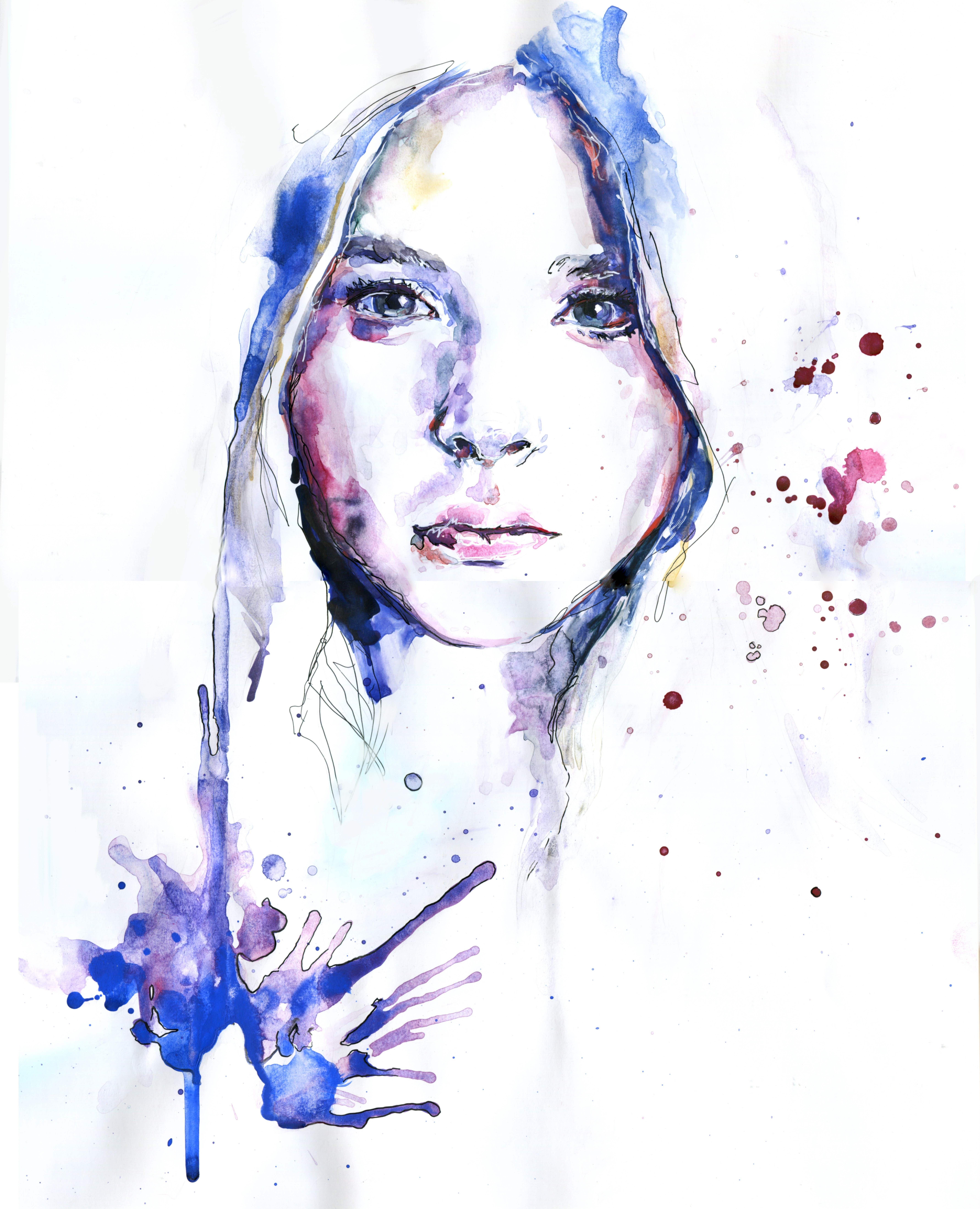 арт картина заказ на art художник акварель watercolor портрет