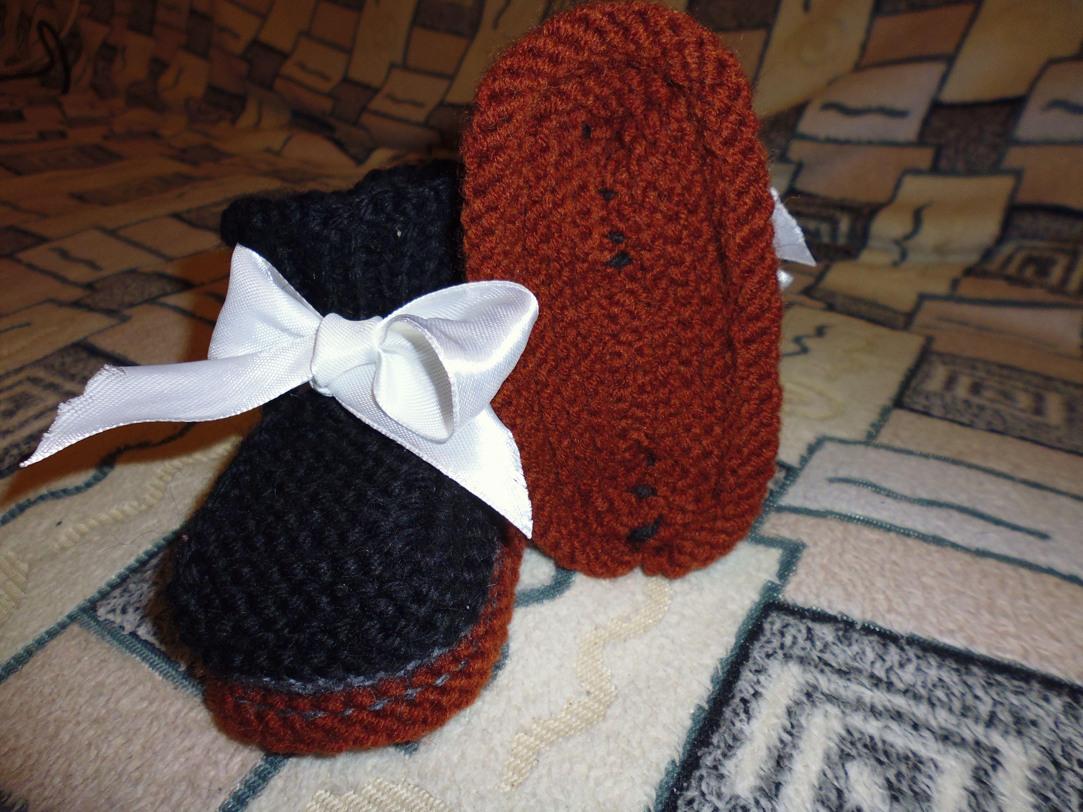 вязаниеназаказ пинетки knitting вяжуназаказ kniting пинеткидеткам вязание