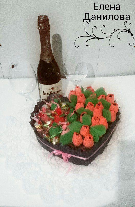 сладкий конфетами конфет букет сердце конфеты из с подарок
