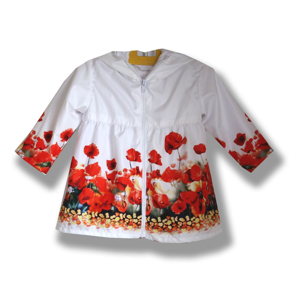 фотопринт сублимация плащ изысканный дождевик девочке нарядный маки стильный принт цветочный handmade ручная работа белый комплект платье подарок комбинированный