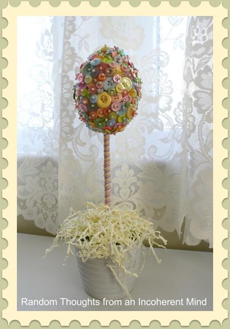 пуговицы декора топиарий декор праздник идеи пасха руками своими