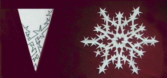 Снежинки из бумаги своими руками 8