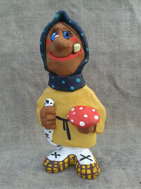 дом творчество глины сувенир интерьер человек кутузов русский подарок игрушки