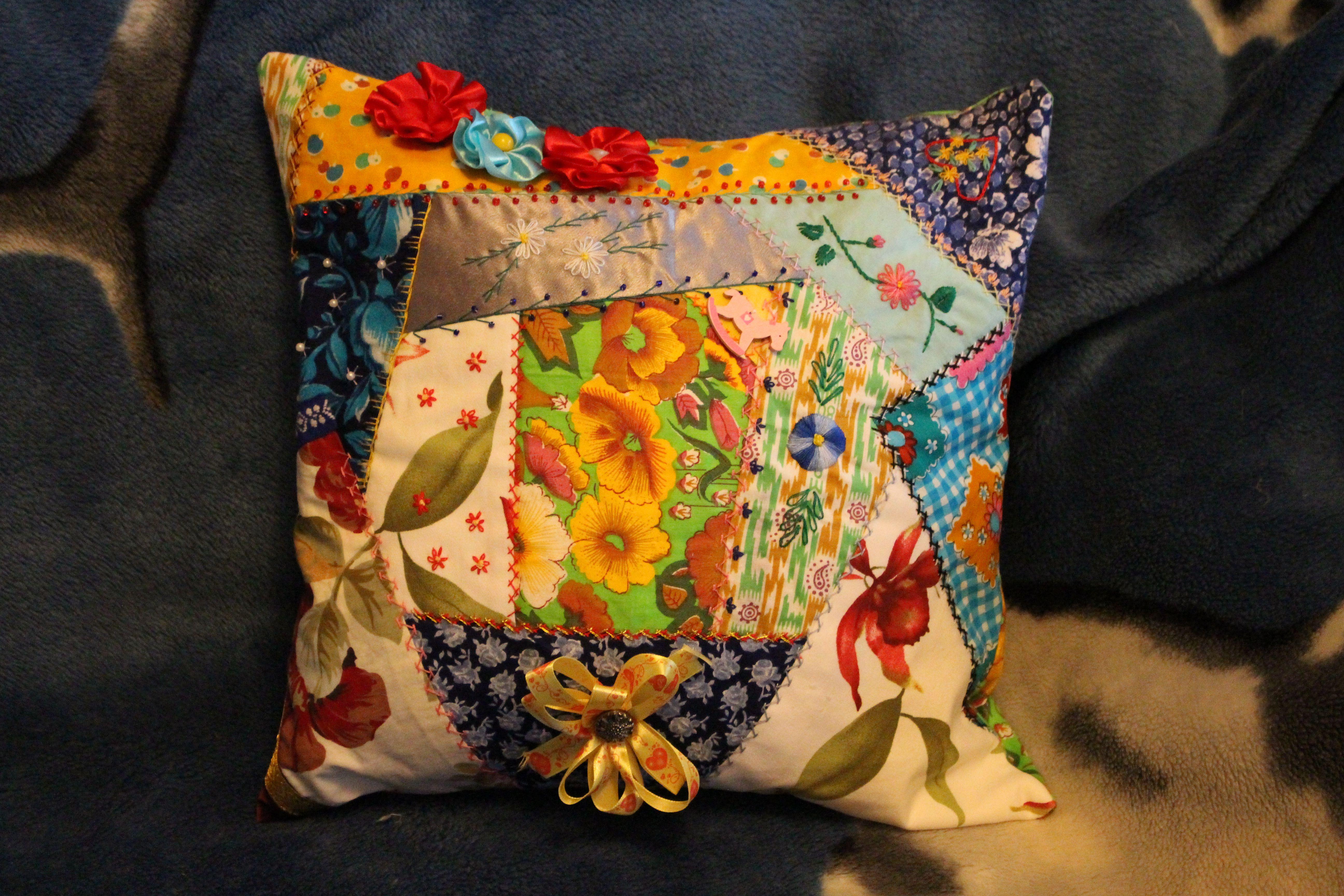 подушки крейзи пэчворк уют красота подарки