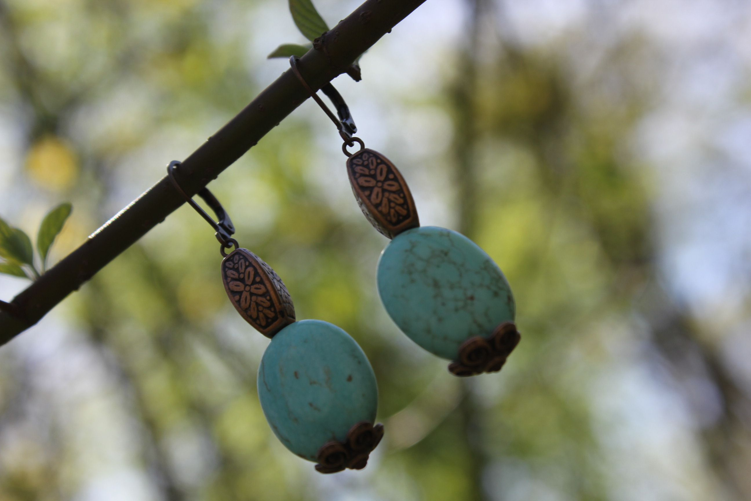 бирюза подарок весна голубой необычныесерьги яркиесерьги серьги небо