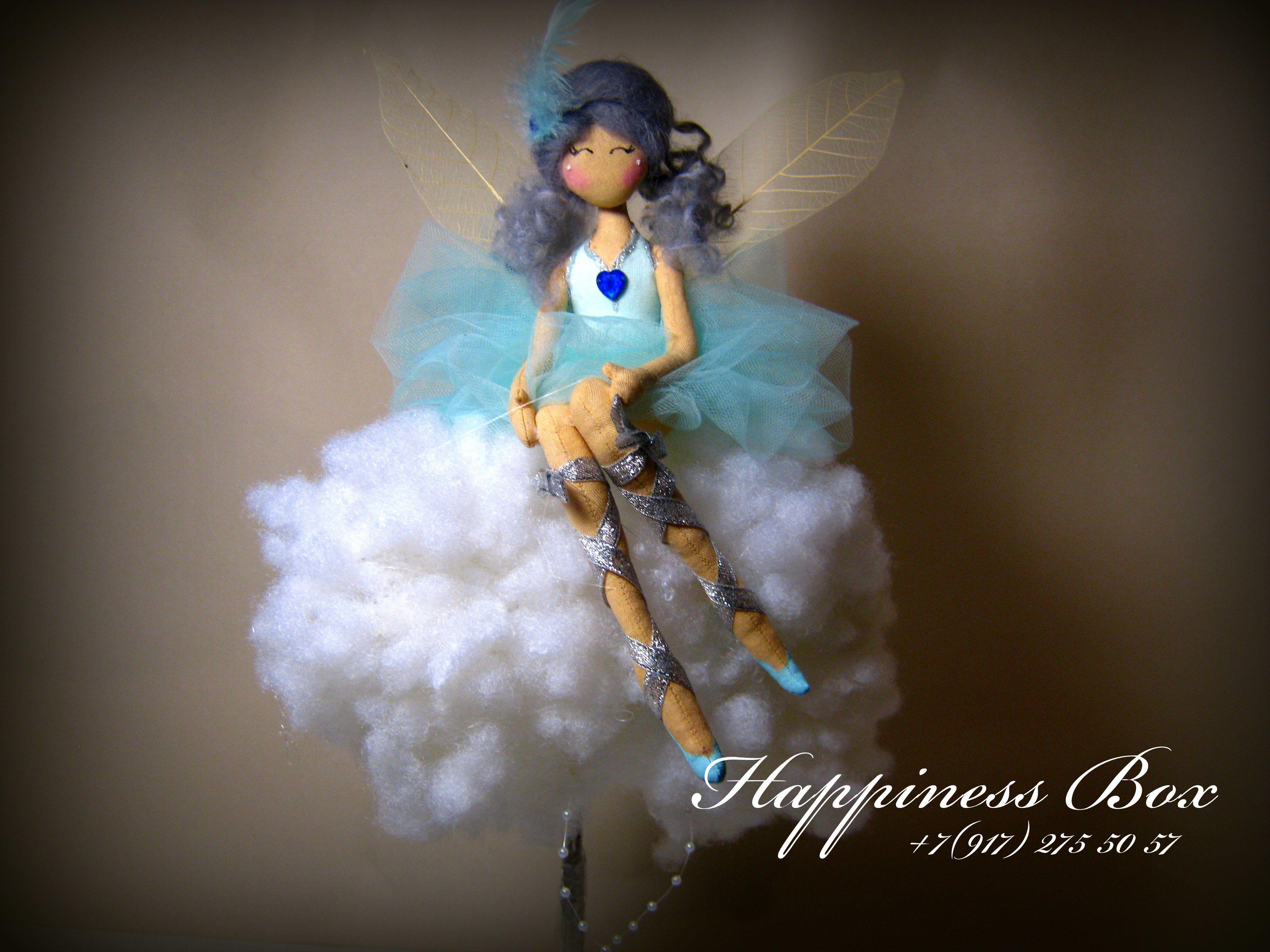 коллекционные нимфа облачная тряпиенс тряпиенсы феи маслова елена фея лесная куклы цветочная happinessbox текстильные барби интерьерные