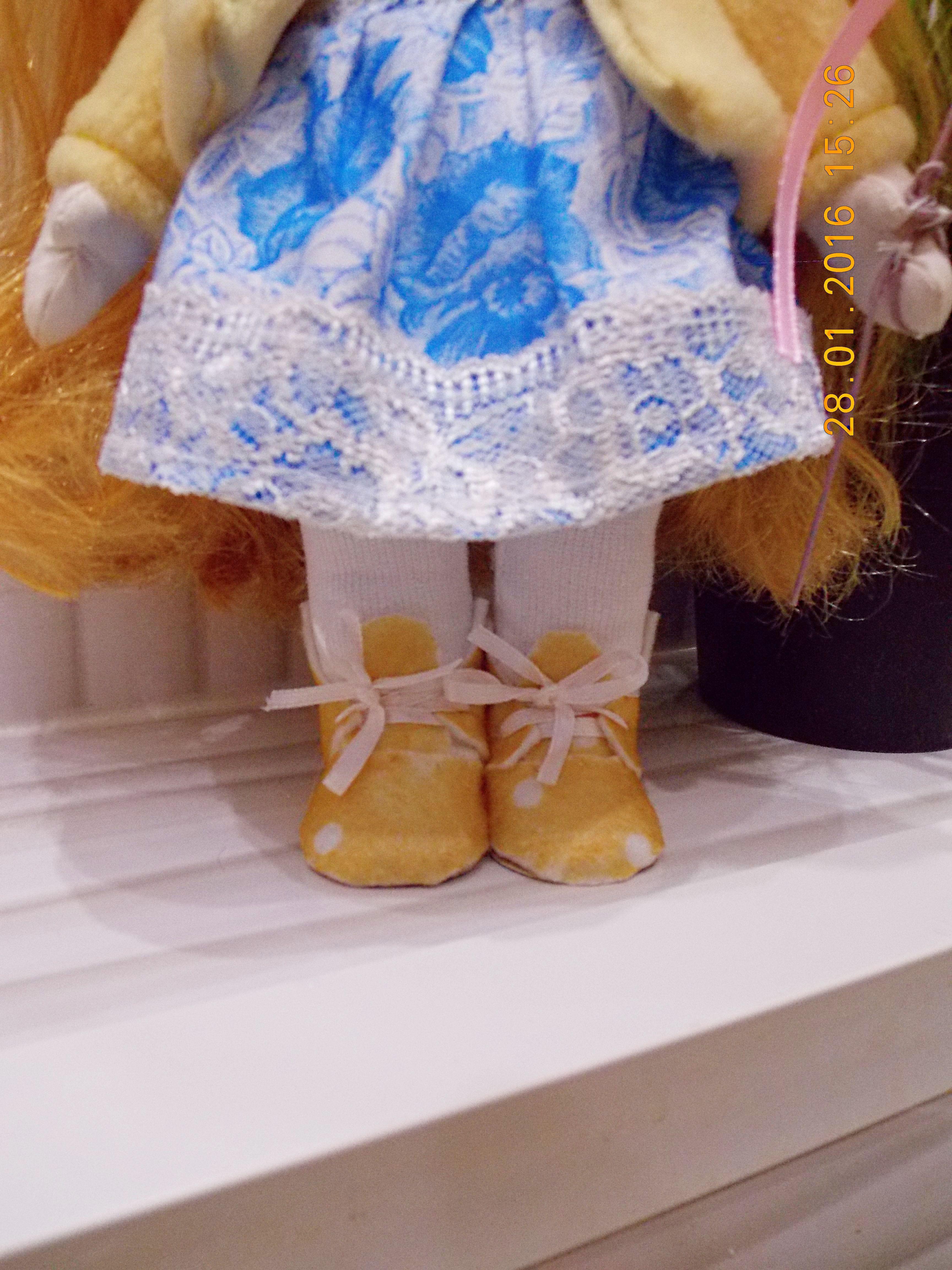 девочке золотой глаза голубые большие игрушка кукла интерьерная малышка текстильная подарок