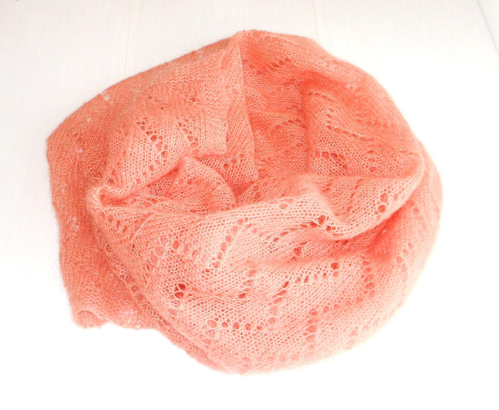 шарф мохера теплый палантин ручная купить связано спицами из работа подарок